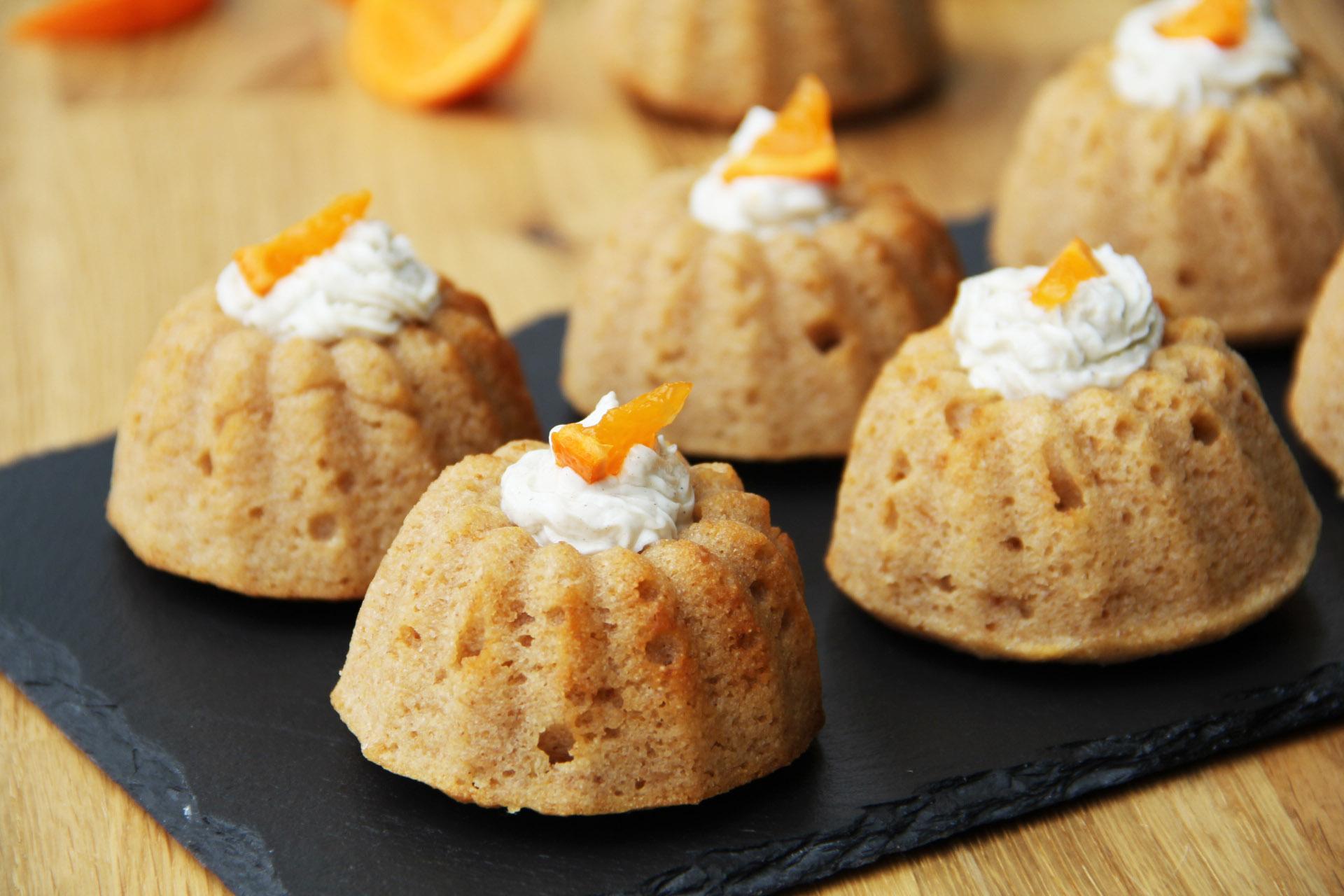 Pomerančové bábovičky ze špaldové krupice