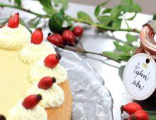 Podzimní šípkový cheesecake